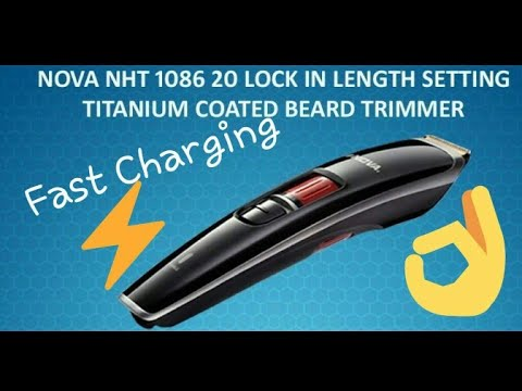 NOVA NHT 1086 HAIR TRIMMER UNBOX AND REVIEW | FAST CHARGING👌👌👌