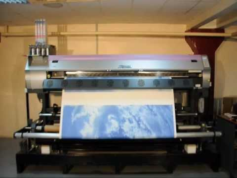 видео: Плоттер mimaki jv34 - печать на натяжном потолке