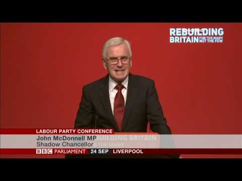 John McDonnell Speech to Labour Conference (Full Video)