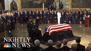 John Mccain Honored At U.s. Capitol Ceremony   Nbc Nightly News