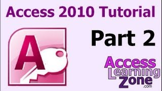 Microsoft Access 2010 Tutorial Part 02 of 12 - Planning Your Database thumbnail