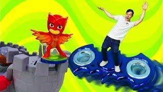 ✌ #ToyMaster летит на #СПИННЕР и спасает Алетт! #ГероивМасках и Фёдор Видео #игрушки для мальчиков