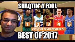 Shaqtin' A Fool- TOP 5 2017 Regular Season Moments| Russell Westbrook travel, faceplant (REACTION)