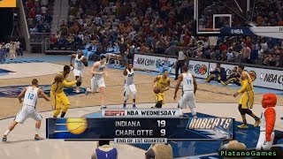 NBA Live 14 PS4 - Indiana Pacers vs Charlotte Bobcats - 4th Qrt - HD