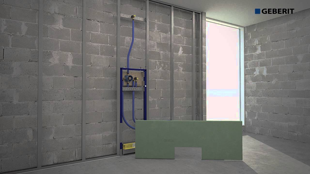 Geberit wall drain duofix installation youtube Geberit drains