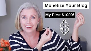 How to Monetize a Blog on Wordpress | How I made my first $1000 Blogging