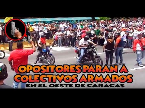 OPOSITORES PARAN A LOS COLECTIVOS EN OESTE DE CARACAS 19 - 4 - 2017