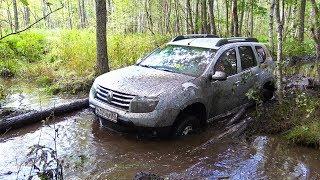 Дастер бросил вызов УАЗу на бездорожье!  Глубокое болото, грязь, вода.