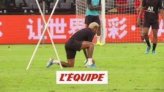 VIDEO: Fausse frayeur pour Neymar à l'entraînement  L1 - PSG