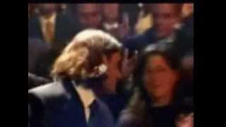Roger Federer kiss with Mirka