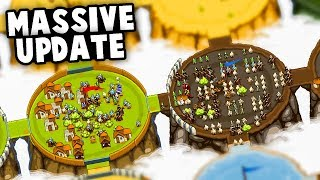 MASSIVE UPDATE! Epic Monster Armies vs Our Kingdom! (Circle Empires Update Gameplay)