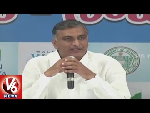 Minister Harish Rao Addressing At World Water Day Round Table Meet | Hyderabad | V6 News