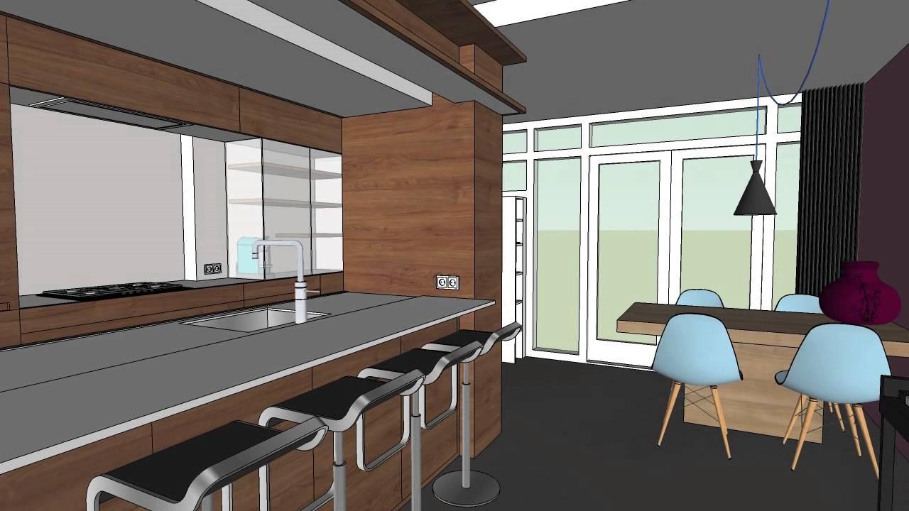keuken ontwerp sketch 3d youtube On 3d ontwerp keuken maken