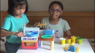 Bộ đồ chơi nấu ăn playdoh, Trò chơi nấu ăn cho bé, choi nau an play-doh, đồ chơi nhà bếp, PA channel