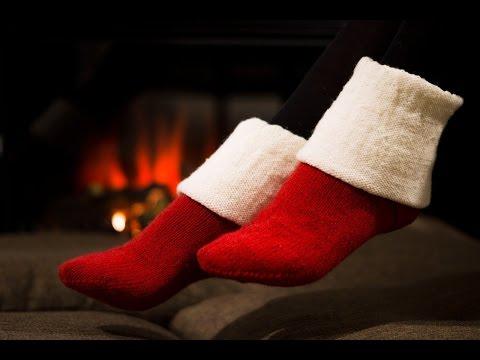 Простые домашние носки спицами // Вязание носков - часть 2
