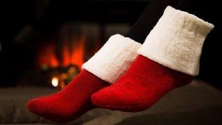 Простые домашние носки спицами // Вязание носков - часть 1