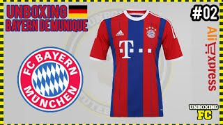 UNBOXING  02 - Camisa Bayern de Munique Home 14 15 - Aliexpress ... 04657703f9c68