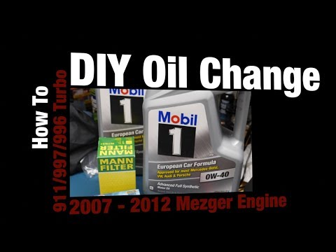 DIY Porsche 997 Turbo Oil Change