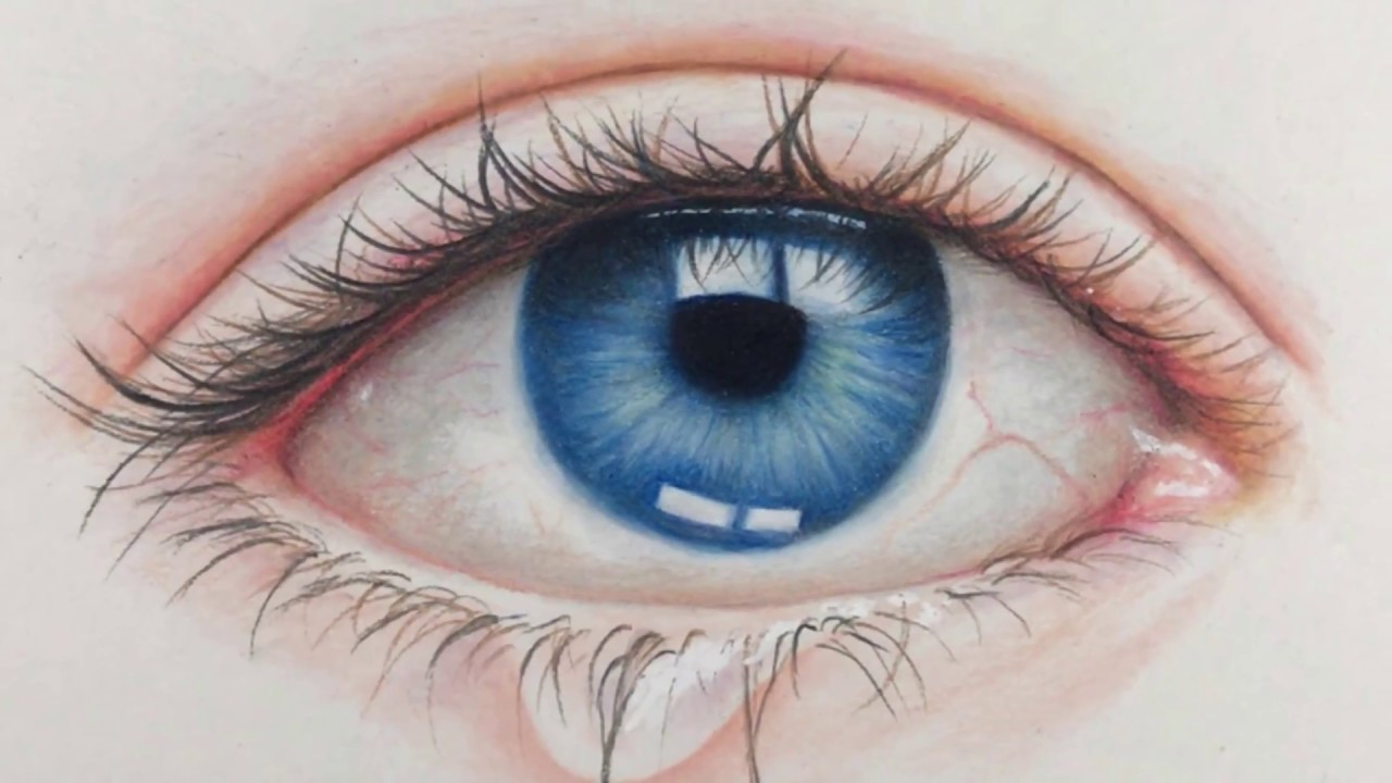 DRAWING REALISTIC EYE - Time Lapse
