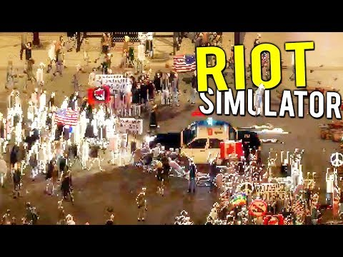 RIOT SIMULATOR! BEING THE RIOT POLICE! TEAR GAS AND BATONS - Riot Civil Unrest Early Access Gameplay