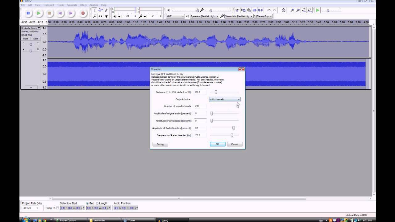 Vocoder Autotune Tutorial in Audacity (How to get robot voice)