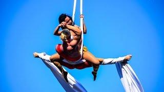 Duo Pospelov - Acrobatic Duo & Aerial Silks Duo @ Siam Street Fest - 2014