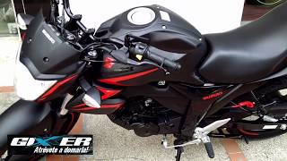 Suzuki gixxer 2018, prizes in India (New Color black red)