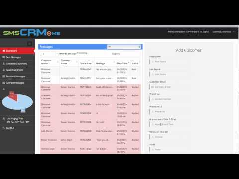 SMSCRM.me SMS Text Message Customer Service Relationship Management Software CRM