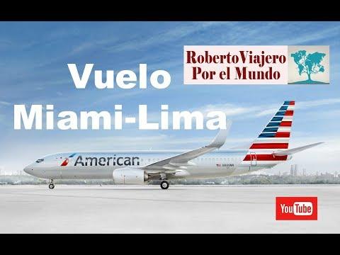 Critica al vuelo Miami-Lima en American Airlines