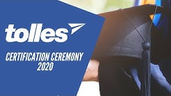Tolles 2020 Certification Ceremony