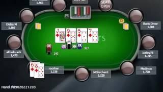 Раздача дня школы PokerStarter: MTT - Kак добрать с натсом