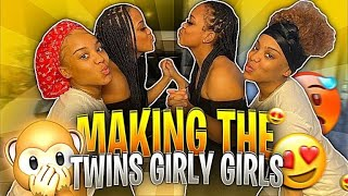 TURNING THE SPLASHTWINS INTO GIRLY GIRLS💅🏽😍