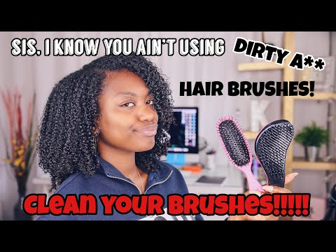 How To Clean Hair Brushes and Combs! If you have natural hair WATCH NOW!!!!