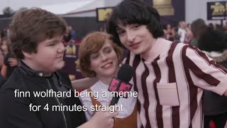finn wolfhard being a meme for 4 minutes straight