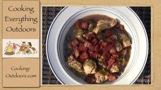 Dutch Oven Chicken Stew With Mushrooms And Ale Recipe | Cooking Outdoors | Gary House