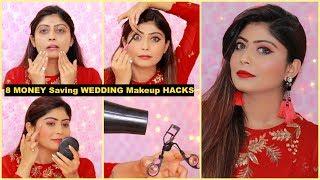8 MONEY Saving WEDDING Makeup HACKS   #Makeuptips #RinkalSoni