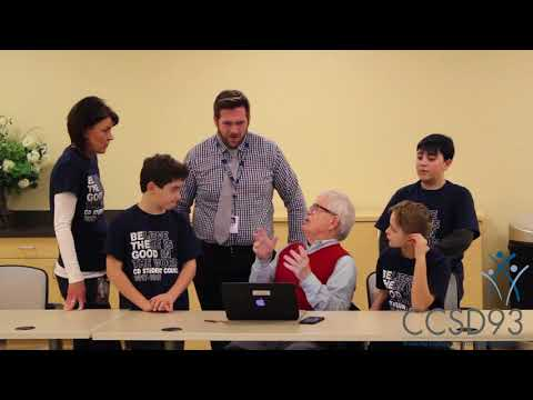 CCSD93 Students Teach Tech Skills to Windsor Park Retirement Community Residents