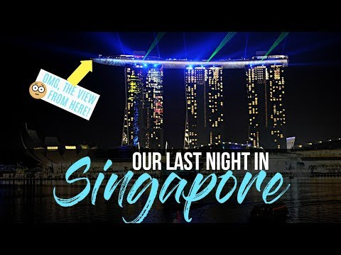 Suspended 650 Feet Off the Ground?!?  Marina Bay Sands Sky Park Singapore Family Travel Vlog #12