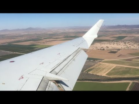 American Eagle CRJ-900 Landing At Yuma International Airport (MCAS Yuma) | Yuma, AZ