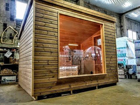 Modern Wooden Outdoor Garden Sauna | Moderne Holzgartensauna im Freien | Sauna Moderne en Bois