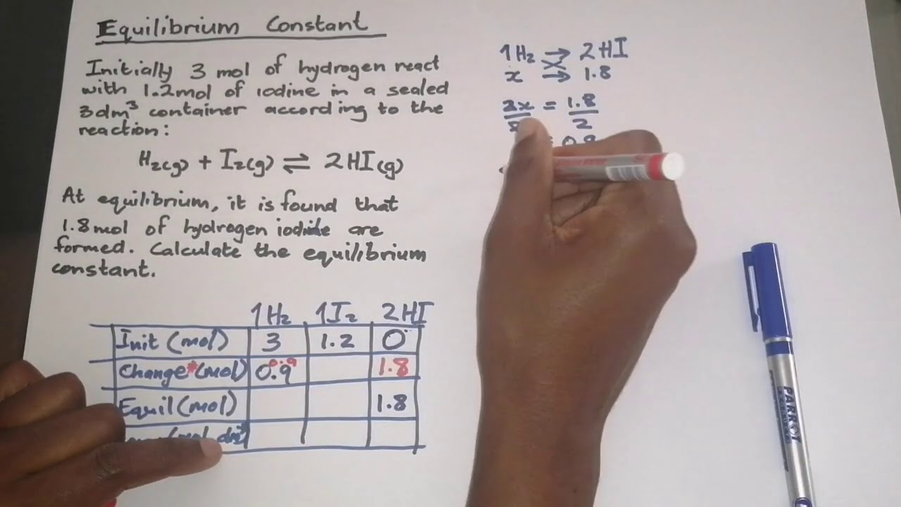 Download Chemistry_Calculating the Equilibrium constant