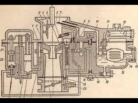 Карбюратор К-124 часть 1 (разборка)