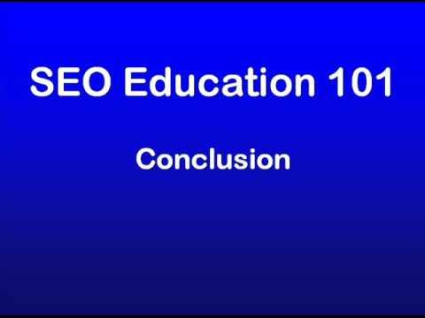 SEO Education 101 - Summing up