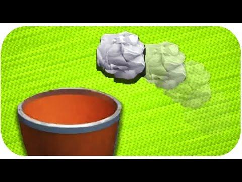Çöp Tenekesine Kağıt Atma Oynadık - Paper Toss