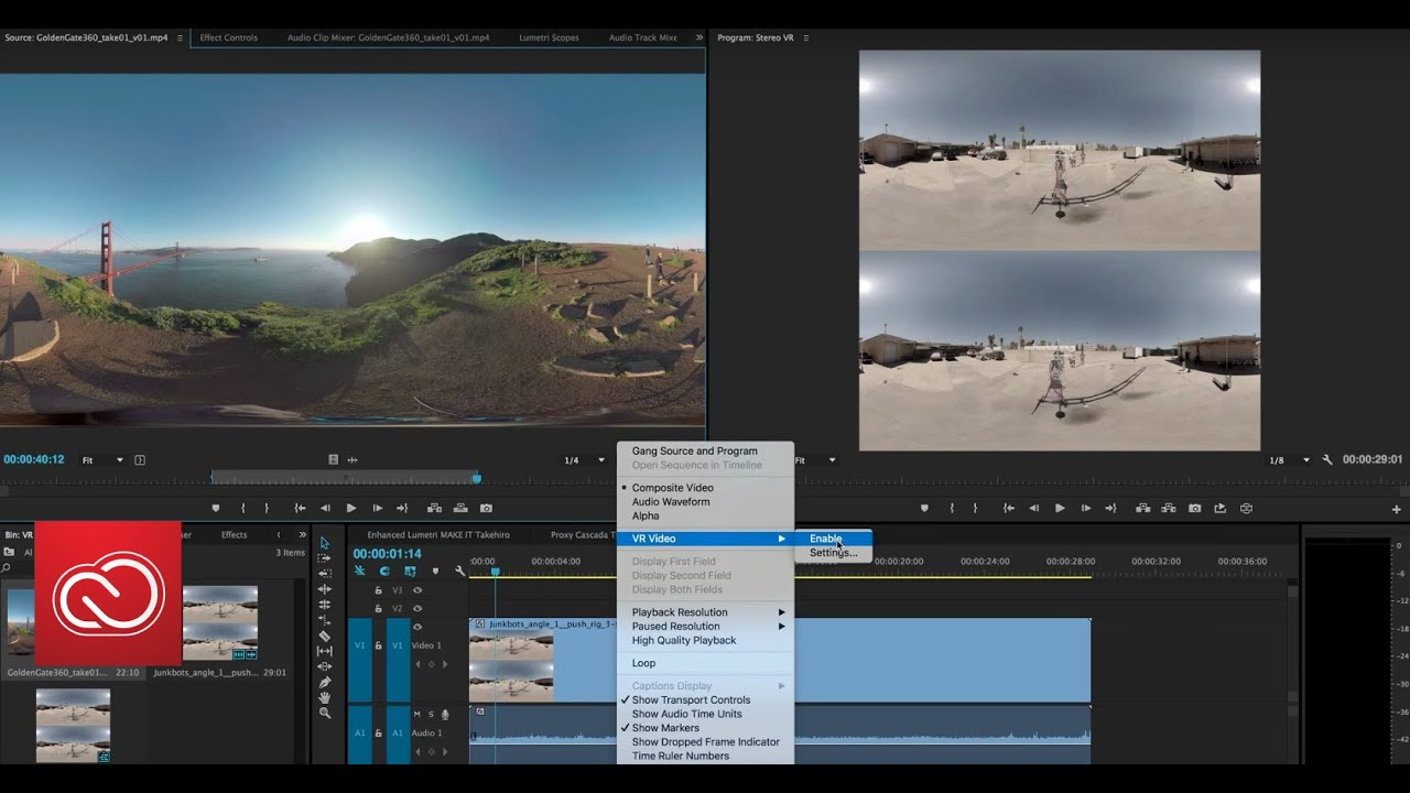 What's New: VR Workflows in Premiere Pro (June 2016) | Adobe Creative Cloud