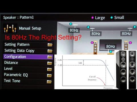 Setting the AV Receiver Crossover, 80Hz?
