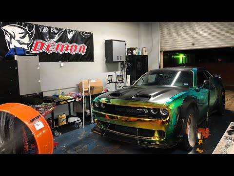 THIS HAS TO BE THE MOST CRAZIEST WRAP JOB ON THIS HELLCAT REDEYE!