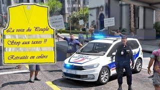 [GTA 5 MODS-LSPDFR] 🔥 MANIF DES GILETS JAUNES 🔥 - POLICE NATIONALE #46