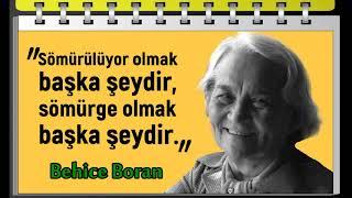 """""""Eğer bir şey yapılacaksa, onu iyi yapmak gerekir."""" Behice Boran Sözleri: (1910-1987)"""