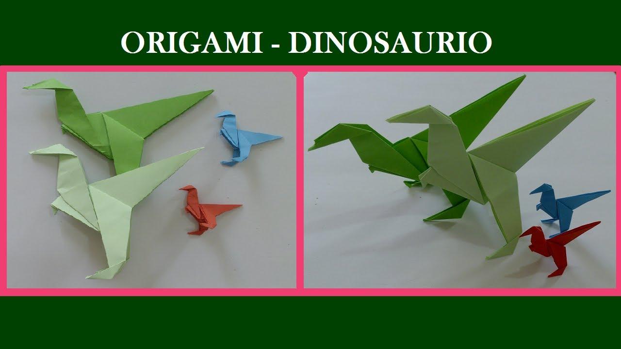 Origami Dinosaurio YouTube